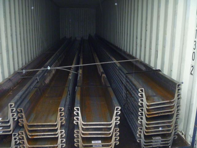 304 Tonnen 3w Art Warmgewalzte Spundbohlen in die USA ausgeliefert
